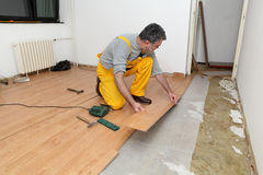 Laminate flooring of room Stock Image
