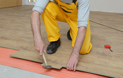 Laminate flooring of room Stock Photography