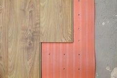 Laminate flooring of room stock photography