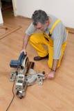Laminate flooring of room Stock Photo