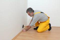 Laminate flooring of room Stock Images