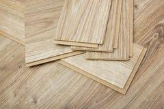 Laminate plates, imitating oak for flooring. Laminate plates, simulating the texture of oak for flooring royalty free stock photo