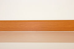 Laminate skirting board Royalty Free Stock Photos
