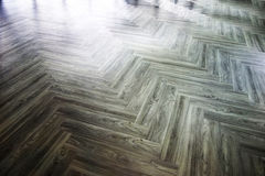 Laminate and vinyl floor tile install in the room. stock photo