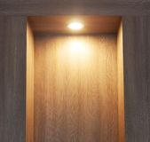 Laminate wall  wood and  light Stock Image
