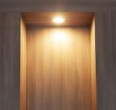 Laminate wall  wood and  light.  Stock Image