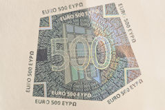 Laminated on banknotes Royalty Free Stock Image