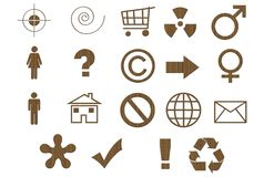 Laminated Cardboard Symbols Stock Images