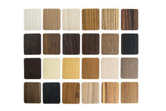 Laminated composite material samples. Samples of Laminated composite material for covering Royalty Free Stock Images