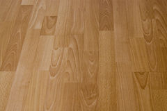 Laminated Floor Boards. Closeup of laminated wooden textured flooring Stock Photography