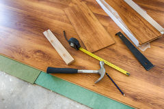 Laminated floor Stock Images