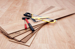 Laminated parquet Stock Images