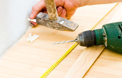 Laminated parquet Stock Photos