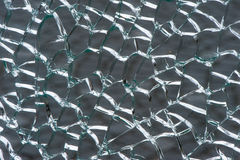 Laminated safety glass broken royalty free stock image