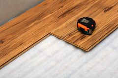 Laminated sheet floor Stock Images