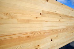 Laminated timber Stock Image