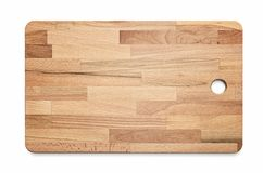 Laminated wooden cutting kitchen board. On white background, included clipping path royalty free stock photos