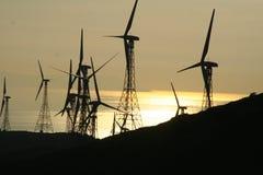 Laminatoi di energia eolia Fotografia Stock Libera da Diritti