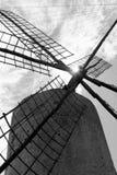 Laminatoi di vento del mulino a vento dei Balearic Island Spagna Immagini Stock