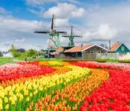 Laminatoi di vento olandesi Fotografie Stock