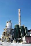 Laminatoio della pasta-carta e della carta - centrali elettriche di cogenerazione Immagine Stock