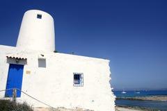 Laminatoio di bianco di architettura dei Balearic Island Fotografia Stock Libera da Diritti
