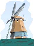 Laminatoio di vento olandese Immagini Stock Libere da Diritti