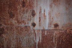 Lamine di metallo arrugginite saldate Priorità bassa industriale immagini stock