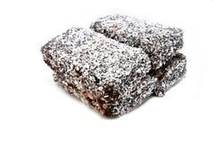 lamington кокоса торта домодельное Стоковое фото RF