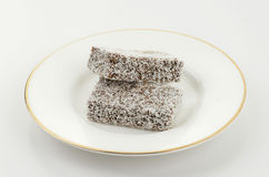 Lamington cake fingers Stock Photo