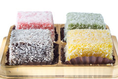 Lamington coconut cake Royalty Free Stock Photo