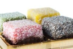 Lamington coconut cake Stock Photography