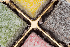 Lamington coconut cake Stock Photography