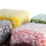 Lamington coconut cake Royalty Free Stock Photography