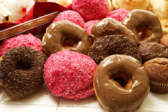 Lamington muffins and donut spred Stock Image