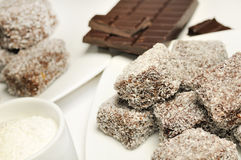 Lamingtons foto de stock
