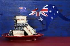 Lamingtons del día de Australia Fotografía de archivo