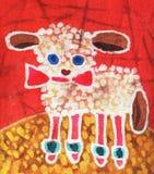 Lamm auf Rot Stockfotos