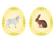 Lamm för kanin för tema för påskägg Royaltyfri Bild