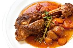 Lamm-Schaft-Abendessen Lizenzfreie Stockbilder