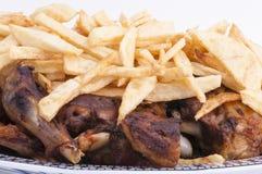 Lamm skank mit Chips Lizenzfreies Stockfoto