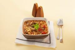 Lamm-und Gersten-Eintopfgericht Stockfotos
