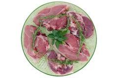 Lamm und Kalbfleisch, Note Lizenzfreies Stockfoto