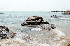 Lamma Island Beach Splashing Water. Stock Photos