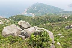Lamma island coastline royalty free stock images