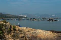 Lamma Island Fishing stock images