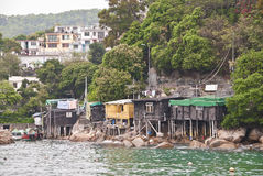 Lamma Island Fishing Village, Hong Kong Stock Image