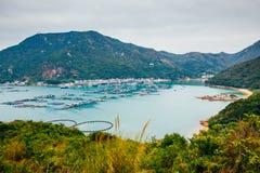 Lamma island sea village hiking road, nature landscape in Hong Kong Stock Photography