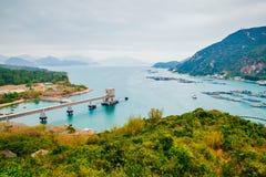 Lamma island sea village hiking road, nature landscape in Hong Kong Stock Images