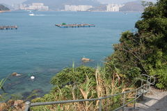 Lamma island with view to hong kong Royalty Free Stock Photography